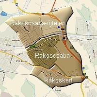 Budapest városrészei az egykori Rákoscsaba területén
