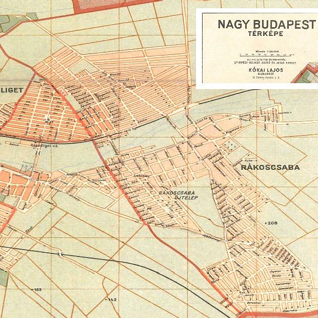 Az elképzelt Nagy Budapest térképe 1947